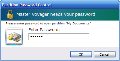 providing password to open encrypted partition on password protected media: DVD, CD or USB Stick